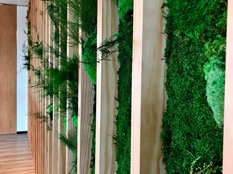 Jardines Verticales en Oficinas Torre Cristal
